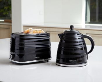 Westinghouse Kettle and Toaster Pack - Black - WHKTPK07K