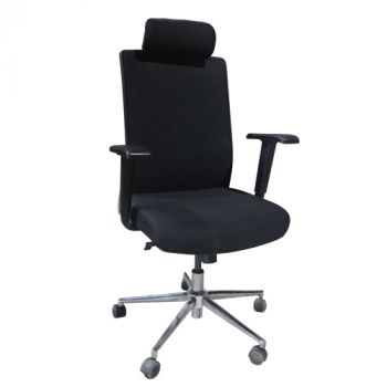 X1 High Back Chair - (Fabric back and fabric seat) - X1-01BK-F-HB